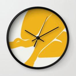 Nude in summer yellow Wall Clock