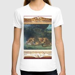 Eugne Delacroix - Lion Devouring a Rabbit T-shirt