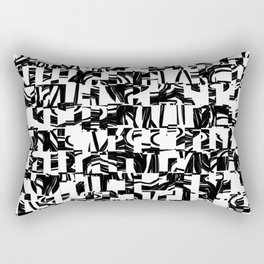 Black & White Rectangular Pillow