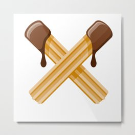 Churros Metal Print