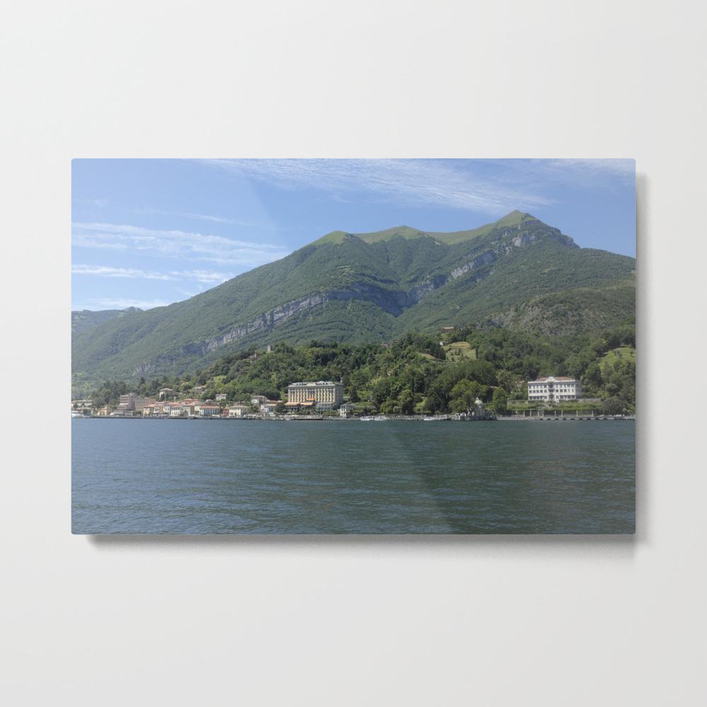 View Of Tremezzo And Villa Carlotta On Lake Como, … Metal Print by Luigipetro MTP8784404