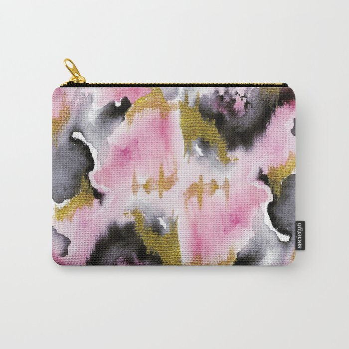Watery Abstract #1- Watercolor Painting Carry-All Pouch