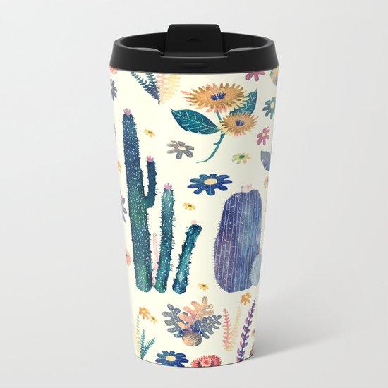 cactus king and queen 2 Metal Travel Mug