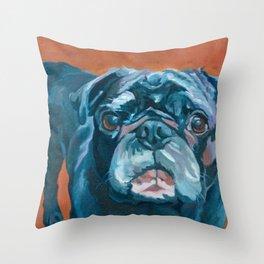 Sir Duke the Pug Portrait Throw Pillow
