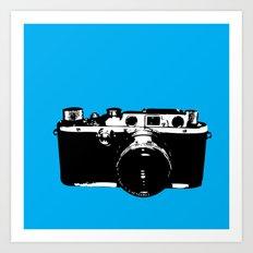 Leica in Blue Art Print