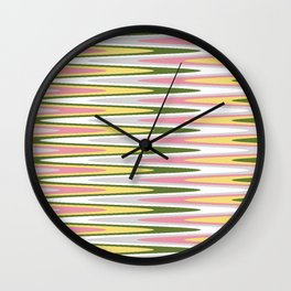 Waves of Color Wall Clock
