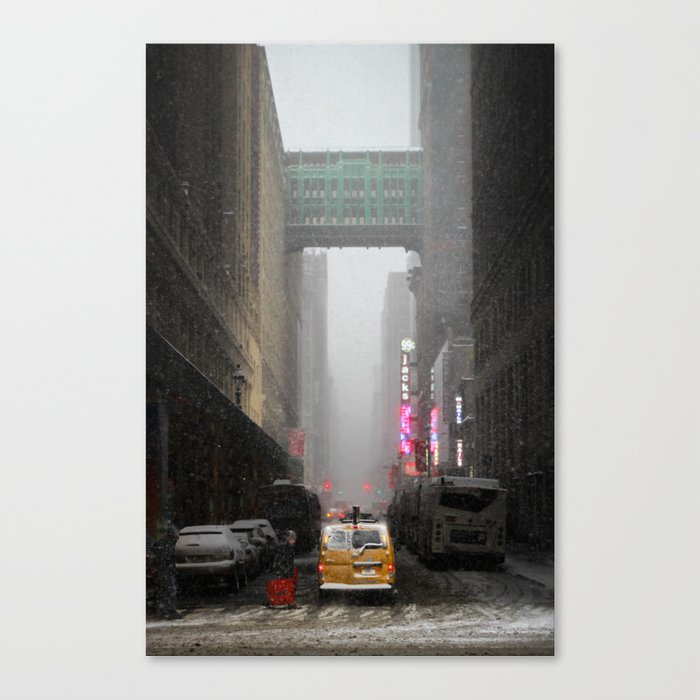 Snow Empire - NYC Canvas Print