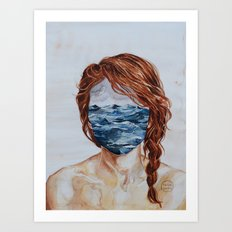 Her Mind & the Sea Art Print