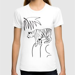 Tiger On A Rock T-shirt