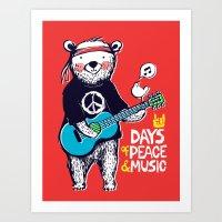 Days Of Peace & Music Art Print