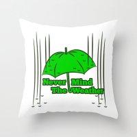 umbrella Throw Pillows featuring Umbrella by mailboxdisco