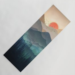 Wilderness Becomes Alive at Night Yoga Mat