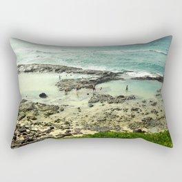 Come get your feet wet Rectangular Pillow