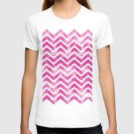 Maritime Pink White Chevron Herringbone ZigZag - Mix & Match T-shirt