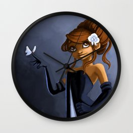Sophie and butterfly Wall Clock
