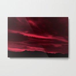 SW Burgundy Sunrise Metal Print