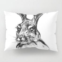 Rabbit Painting | Dry Brush | Animal Art | Animals Wall Art | Nature | Animal Forest Pillow Sham
