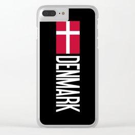 Denmark: Danish Flag & Denmark Clear iPhone Case