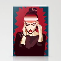 grimes Stationery Cards featuring Grimes by Arielle Herman