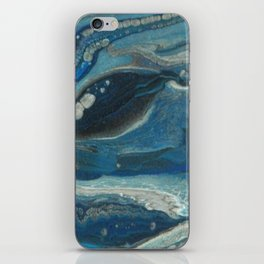 Water Dragon, Abstract Fluid Acrylic Painting iPhone Skin