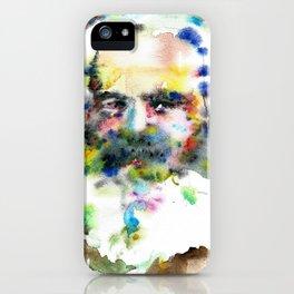 KARL MARX - watercolor portrait .3 iPhone Case