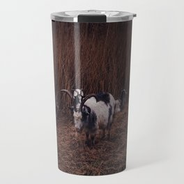 Goats in the wild, Groningen, Netherlands Travel Mug