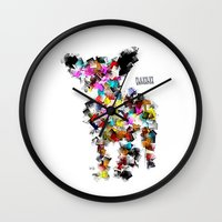 chihuahua Wall Clocks featuring Chihuahua by bri.buckley