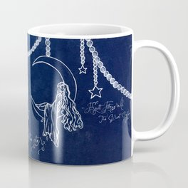 Blue Gardens and Stars Quote Coffee Mug