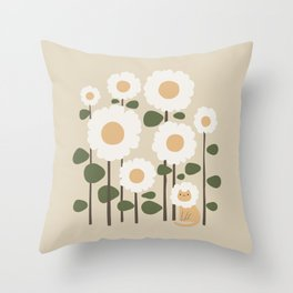 Cat and plant: Catmouflage Throw Pillow