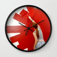 redhead Wall Clocks featuring Redhead by Twilight Productions