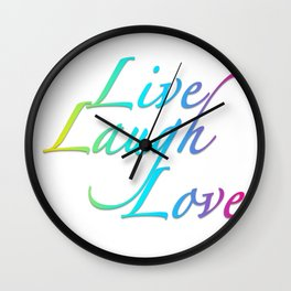 Live, Laugh, Love Wall Clock