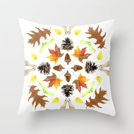 Tree Mandala 1 - Watercolor Throw Pillow
