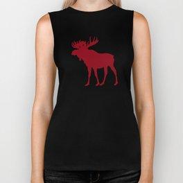 Moose: Rustic Red Biker Tank