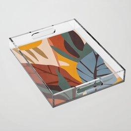 Abstract Art Jungle Acrylic Tray