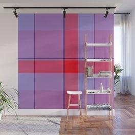Red Violet Tartan Plaid Wall Mural