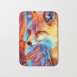 Fox Watercolor Bath Mat