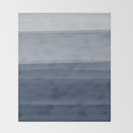 Touching Indigo Blue Watercolor Abstract #1 #painting #decor #art #society6 Throw Blanket