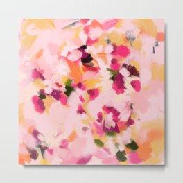 Abstract Floral Petals Metal Print