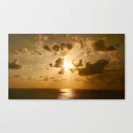 Sunset in Tel Aviv Canvas Print