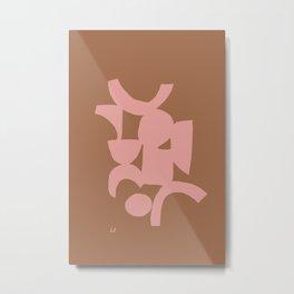 Pink Clay Metal Print