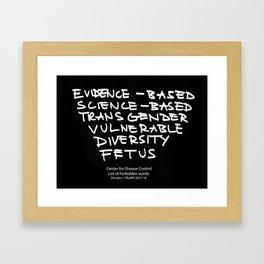 Evidence-Based Framed Art Print