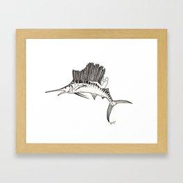 Surfing the fish Framed Art Print