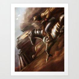 Cowboys & Engines Art Print