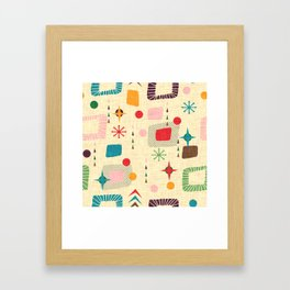 Atomic pattern Framed Art Print