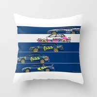 subaru Throw Pillows featuring Colin McRae, The Subaru Years by Ricardo Santos