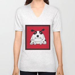 Funny Dog- by Skip Lyman Unisex V-Neck