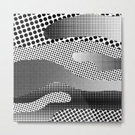 Black White Sea Metal Print