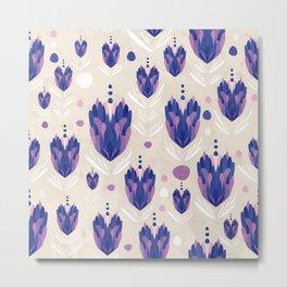 Lavender Pattern Metal Print