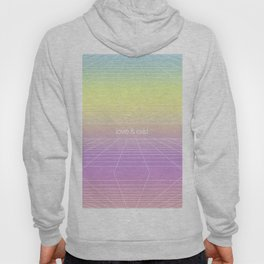 Love & Exist - 3D Wireframe Emo Plane of Existence Design Hoody