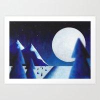 Moonscape Art Print